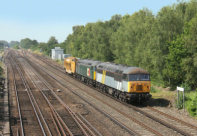 56301 Worting Junction 25/07/14 6Z56 Eastleigh to Chaddesden with 56303