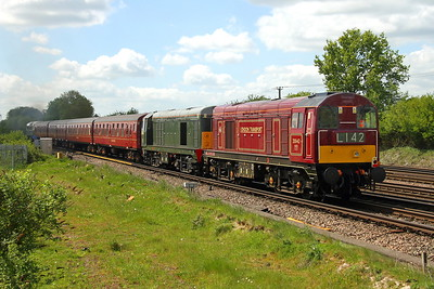 20142 Worting Junction 10/05/18 on the rear of 1Z33 Ealing Broadway to Swanage with 20007