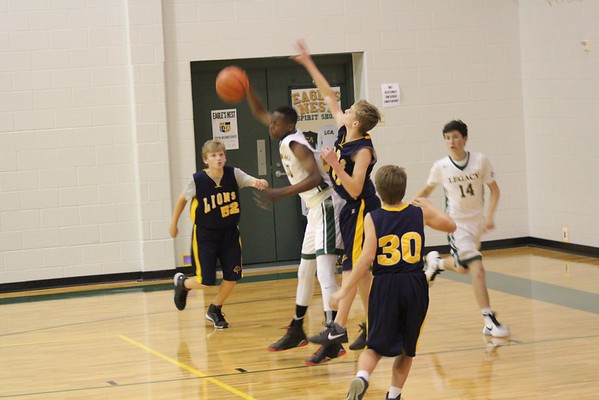 01.11.16 8th grade gold vs. Legacy Christian Academy