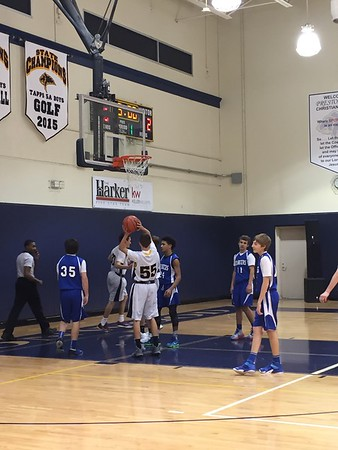 01.19.16 8th grade blue vs. Dallas Christian School
