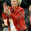 Illinois State coach Stephanie Glance applauds her teams performance early in the second half of their second round MVC tournament game.  Illinois State was defeated by Indiana State 80-51.