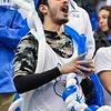 A fan in the student body becomes the balloon master during a conference game  between St. Louis University Billikens and George Mason Patriots played in St. Louis, MO. at Chaifetz Arena.  Where George Mason defeated St. Louis 78-50