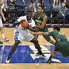 St. Louis Billiken forward REGGIE AGBEKO (35) looks to break towards the basket during a conference game  between St. Louis University Billikens and George Mason Patriots played in St. Louis, MO. at Chaifetz Arena.  Where George Mason defeated St. Louis 78-50