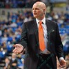 St. Joseph's Hawks head coach PHIL MARTELLI  gives directions to his players during a conference game  between St. Louis University Billikens and St. Joseph's Hawks played in St. Louis, MO. at Chaifetz Arena.  Where St. Louis defeats St. Joseph 68-61