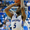 St. Louis Billiken guard DAVELL ROBY (5) takes a three point shot during a conference game  between St. Louis University Billikens and St. Joseph's Hawks played in St. Louis, MO. at Chaifetz Arena.  Where St. Louis defeats St. Joseph 68-61