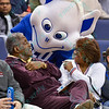 The St. Louis Billiken Mascot socializes with fans during a conference game  between St. Louis University Billikens and St. Bonaventure Bonnies played in St. Louis, MO. at Chaifetz Arena.  Where St. Bonaventure defeated St. Louis 64-48.