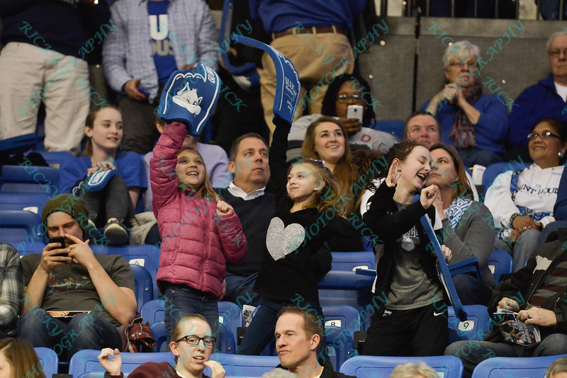 Young fans have a good time during a conference game  between St. Louis University Billikens and St. Bonaventure Bonnies played in St. Louis, MO. at Chaifetz Arena.  Where St. Bonaventure defeated St. Louis 64-48.