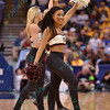 The Missouri State dancers perform at the Missouri Valley Conference, Arch Madness Tournament game one where S. Illinois defeated Missouri State 55-48