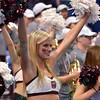 A member of the Missouri State dancers at the Missouri Valley Conference, Arch Madness Tournament game one where S. Illinois defeated Missouri State 55-48