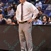 Bradley head coach GENO FORD at the Missouri Valley Conference, Arch Madness Tournament game two where Bradley Braves beat Drake Bulldogs by the score of 52-50