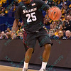 Southern Illinois Salukis guard ANTHONY BEANE (25) at the Missouri Valley Conference, Arch Madness Tournament game three where Wichita State defeated Southern Illinois by the score of 56-45