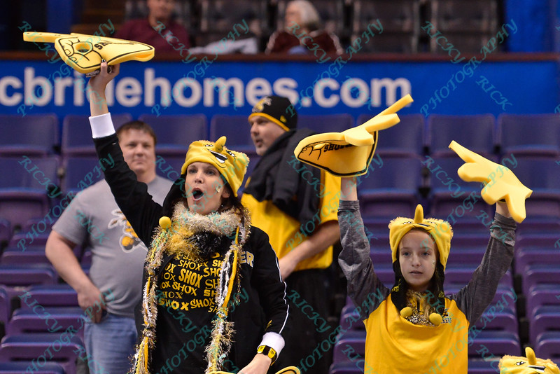 Wichita State fans show their support at the Missouri Valley Conference, Arch Madness Tournament game three where Wichita State defeated Southern Illinois by the score of 56-45