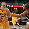 Wichita State Shocker forward ALLIE DECKER (21) at the Missouri Valley Conference tournament game three where Wichita State defeated Loyola-Chicago by the score of 59-42