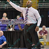 Evansville head coach OTIES EPPS at the Missouri Valley Conference tournament game fifth game where Evansville upsets Drake by the score of 84-79 in overtime.