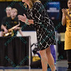 Wichita State head coach JODY ADAMS at the Missouri Valley Conference tournament game seven where Wichita State defeated University of Northern Iowa by the score of 56-42