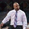 Evansville head coach OTIES EPPS at the Missouri Valley Conference tournament game eight where Missouri State defeated Evansville by the score of 75-66