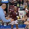 Missouri State Lady Bears guard TYONNA SNOW (22) gets introduced at the Missouri Valley Conference tournament game eight where Missouri State defeated Evansville by the score of 75-66