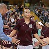 Missouri State Lady Bears forward AUBREY BUCKLEY (21) gets introduced at the Missouri Valley Conference tournament game eight where Missouri State defeated Evansville by the score of 75-66