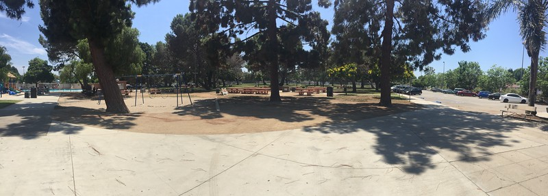 Parking Lot and Benches