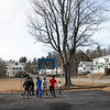Some kids had fun on Wednesday afternoon, during the warmer weather, playing a pickup game of basketball on the basketball court at Crocker Playground in Fitchburg. SENTINEL & ENTERPRISE/JOHN LOVE