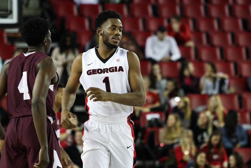 Georgia forward Yante Maten (1) during the Bulldogs' game against Morehouse at Stegeman Coliseum in Athens, Ga., on Wednesday, Nov. 30, 2016. (Photo by Cory A. Cole / Georgia Sports Communications)