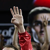 Fans cheer at fourth quarter during the Bulldogs' game against Morehouse at Stegeman Coliseum in Athens, Ga., on Wednesday, Nov. 30, 2016. (Photo by Cory A. Cole)