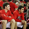 Georgia forward Connor O'Neill (33) and guard Brandon Young (14) during the Bulldogs' game against Morehouse at Stegeman Coliseum in Athens, Ga., on Wednesday, Nov. 30, 2016. (Photo by Cory A. Cole)