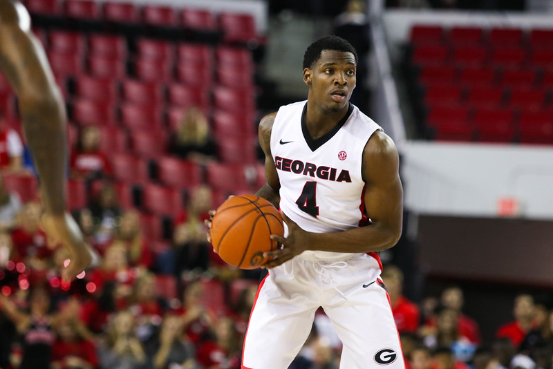 Georgia guard Tyree Crump (4) during the Bulldogs' game against Morehouse at Stegeman Coliseum in Athens, Ga., on Wednesday, Nov. 30, 2016. (Photo by Cory A. Cole / Georgia Sports Communications)