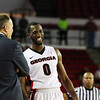 Georgia head coach Mark Fox and William Jackson II (0) during the Bulldogs' game against Vanderbilt at Stegeman Coliseum in Athens, Ga., on Tuesday, Jan. 17, 2016. (Photo by Cory A. Cole)