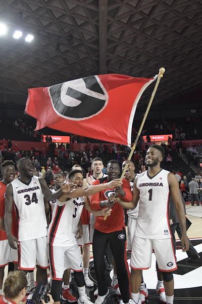 The Georgia men's basketball team (Photo by John Kelley/UGA)