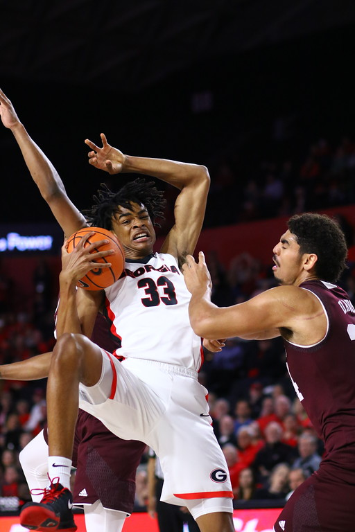 Georgia forward Nicolas Claxton (33) during the Bulldogs' game against Texas A&M at Stegeman Coliseum in Athens, Ga. on Wednesday, Feb. 28, 2018. (Photo by Steffenie Burns)