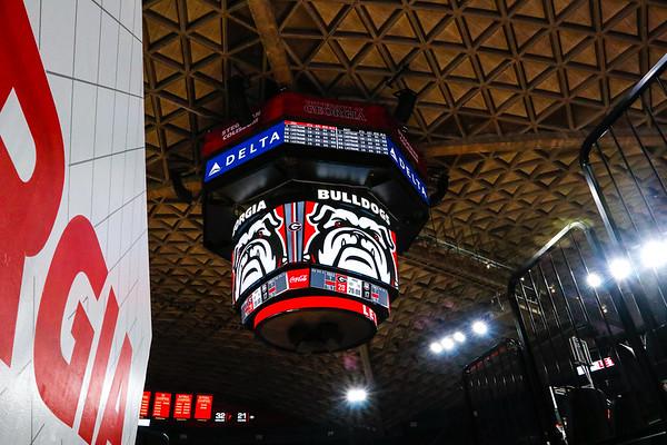 Stegeman's new scoreboard (Photo by Steffenie Burns /Georgia Sports Communication)