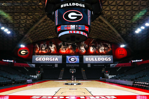 Georgia's newly renovated Stegeman Coliseum, home of UGA Men's and Women's basketball. (Photo by Steffenie Burns / Georgia Sports Communication)