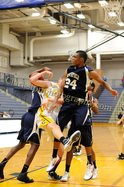 2011-12 Clarkston JV Basketball vs Southfield image 023