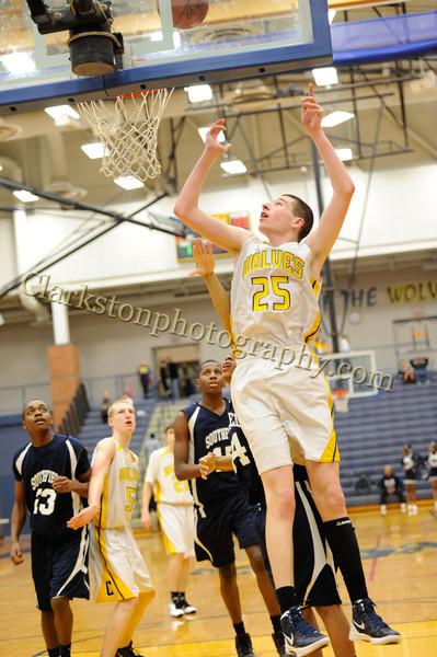 2011-12 Clarkston JV Basketball vs Southfield image 104