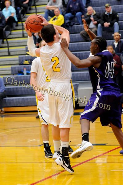 2011-12 Clarkston Varsity Basketball vs  Pontiac image 104