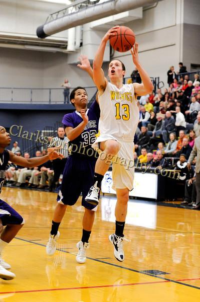 2011-12 Clarkston Varsity Basketball vs  Pontiac image 030