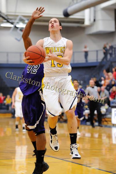 2011-12 Clarkston Varsity Basketball vs  Pontiac image 026
