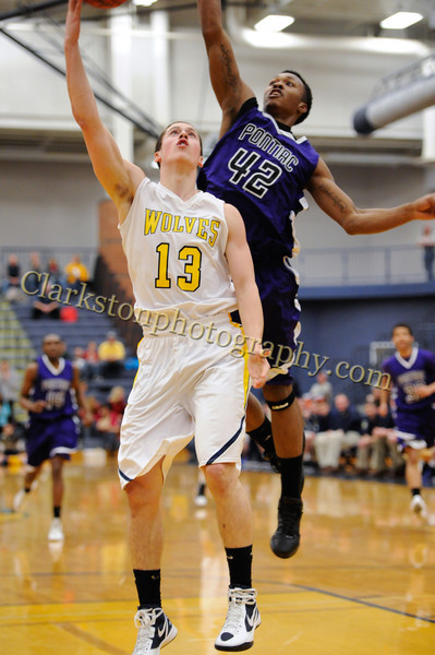 2011-12 Clarkston Varsity Basketball vs  Pontiac image 027