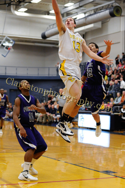 2011-12 Clarkston Varsity Basketball vs  Pontiac image 031