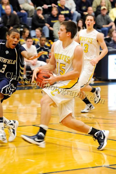 2011-12 Clarkston Varsity Basketball vs Southfield image 238