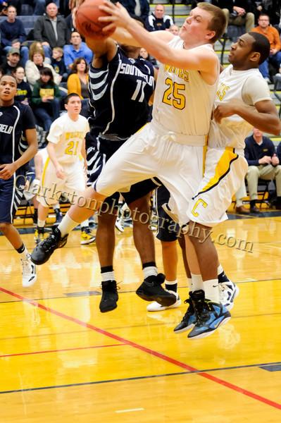 2011-12 Clarkston Varsity Basketball vs Southfield image 331