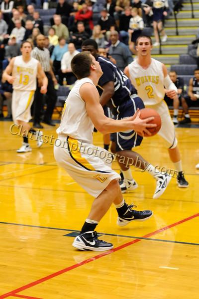 2011-12 Clarkston Varsity Basketball vs Southfield image 080