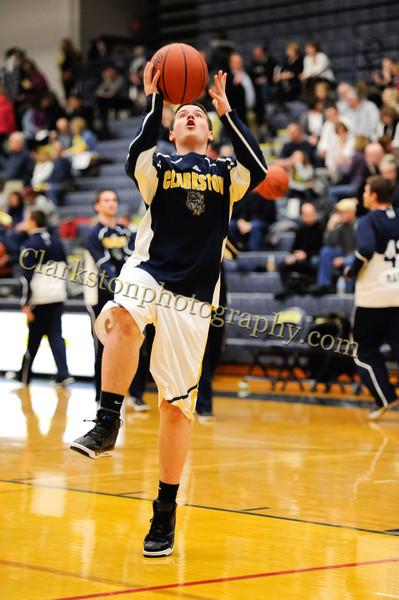 2011-12 Clarkston Varsity Basketball vs Southfield image 017