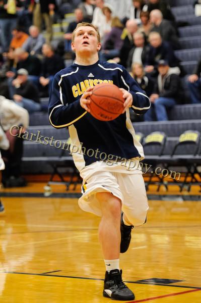 2011-12 Clarkston Varsity Basketball vs Southfield image 009