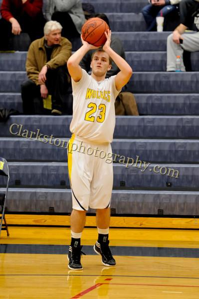 2011-12 Clarkston Varsity Basketball vs Southfield image 093