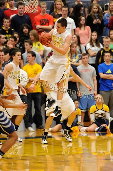 2011-12 Clarkston Varsity Basketball vs Southfield image 114