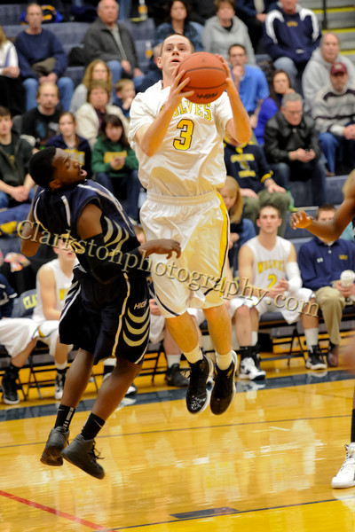 2011-12 Clarkston Varsity Basketball vs Southfield image 262