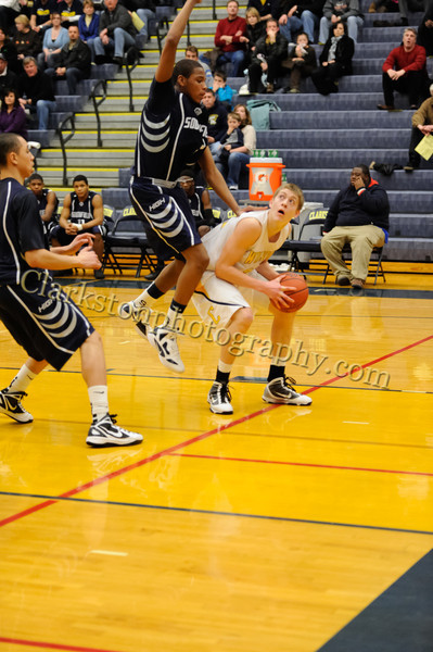 2011-12 Clarkston Varsity Basketball vs Southfield image 109