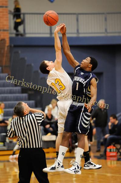 2011-12 Clarkston Varsity Basketball vs Southfield image 049